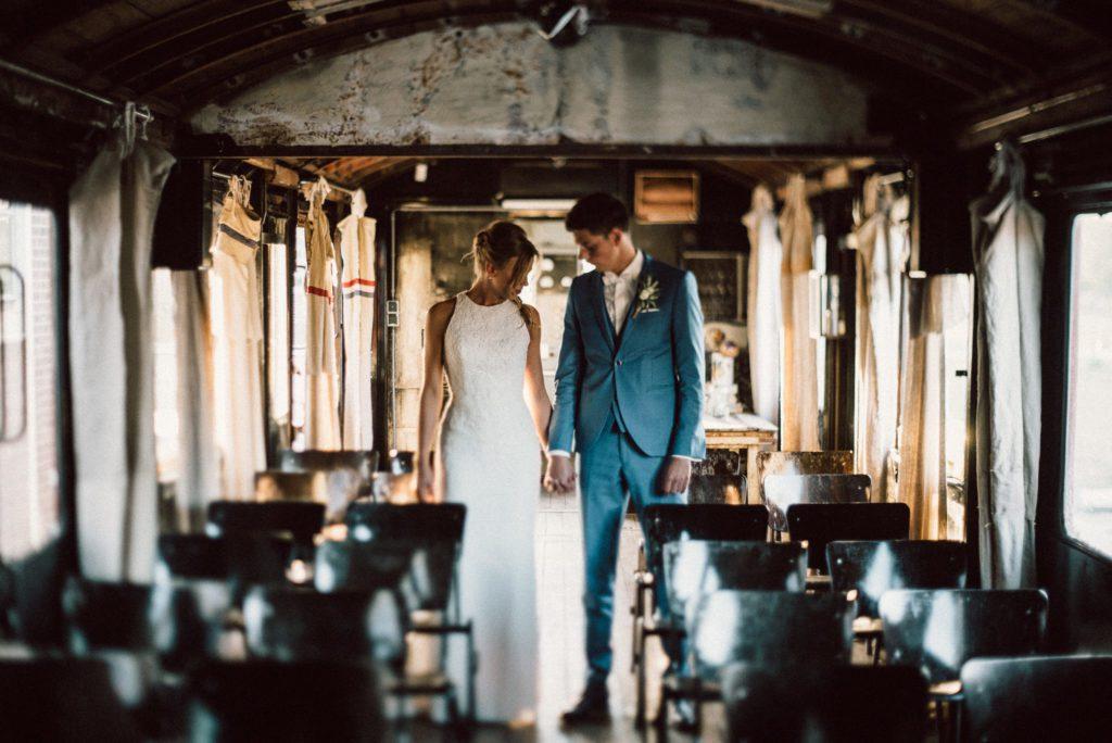 Sanne und Cor Jan Het Ketelhuis Amersfoort destinationwedding train light groom bride love