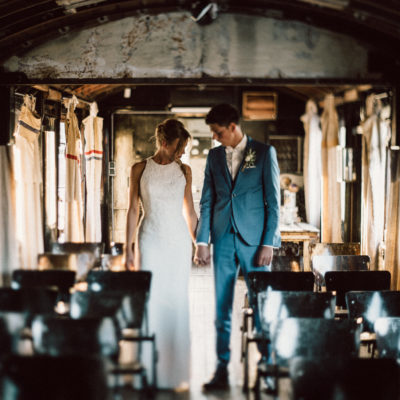 Sanne und Cor Jan Het Ketelhuis Amersfoort destinationwedding train light groom bride love